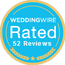 Wedding Wire Rated! 52 reviews!